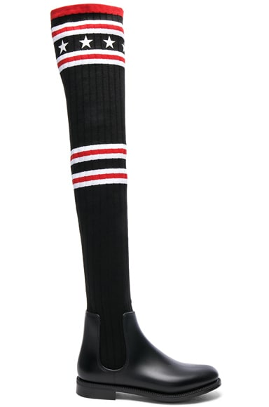 Rib Knit Over The Knee Sock Boots Givenchy