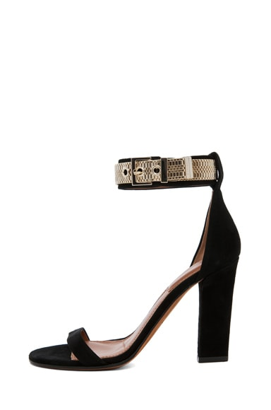 Giuliana Suede Chain Heels