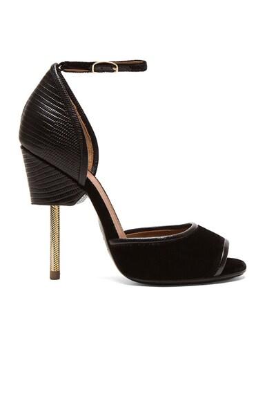 Matilda Leather & Velvet Sandal