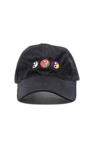 Gosha Rubchinskiy Yin Yang Cap in Black