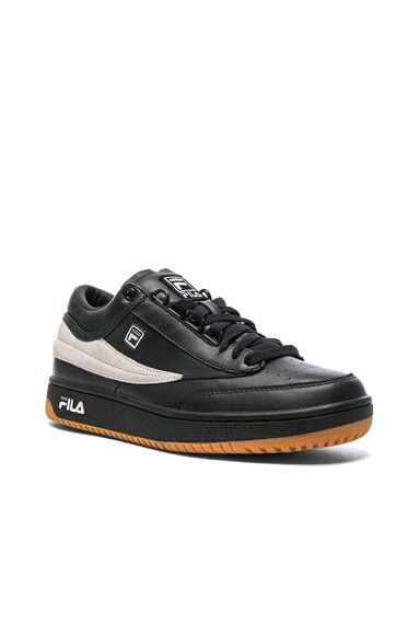Gosha Rubchinskiy x Fila T1 Mid Leather Sneakers in Black & White