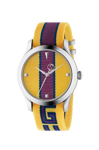 38MM G-Timeless Logo Strap Watch