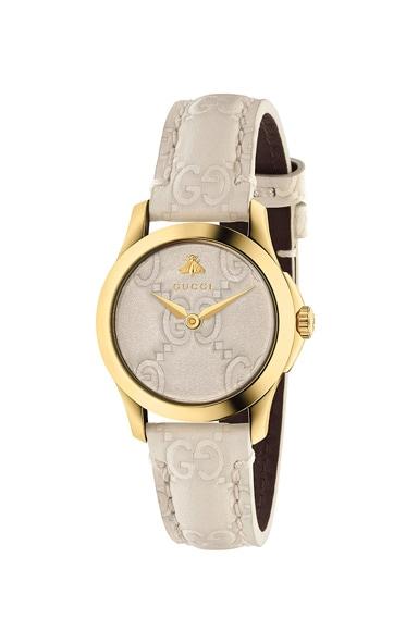 27MM G-Timeless Logo Embossed Strap Watch