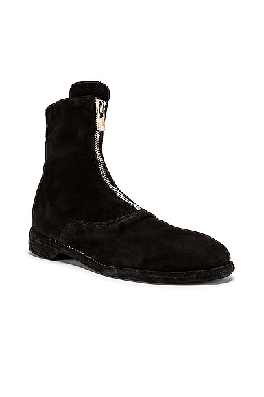 Stag Suede Zipper Boots