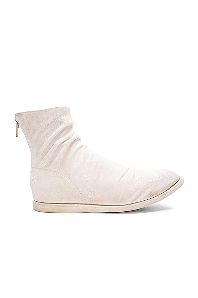 Guidi Kangaroo Suede Boots in White