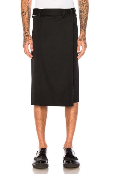 Wool Gabardine Shorts