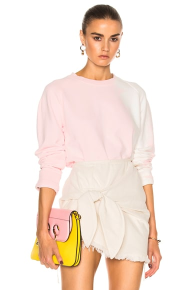 Haider Ackermann Bleach Sweatshirt in Pale Rose