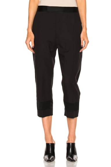 Haider Ackermann Hem Detail Trousers in Black