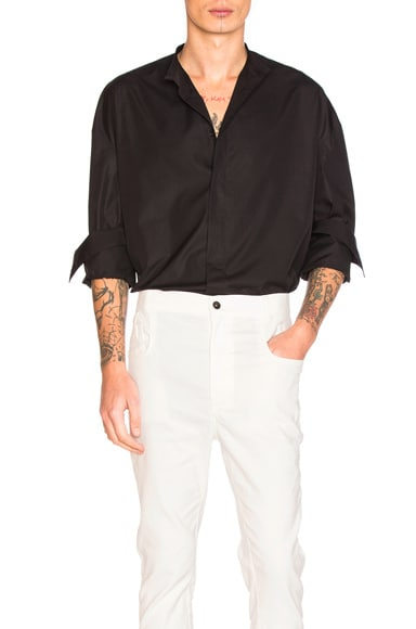 Haider Ackermann Oversized Shirt in Black