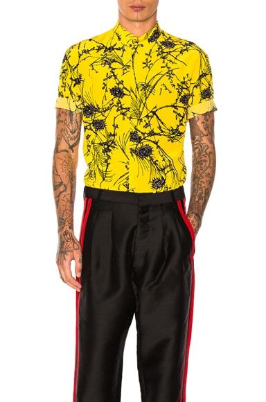 Haider Ackermann Short Sleeve Shirt in Yellow