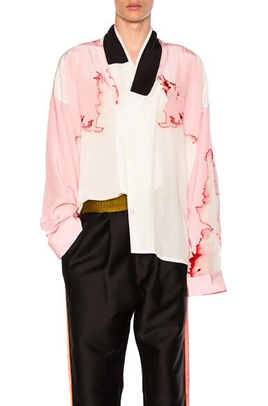 Haider Ackermann Kimono Shirt in Pink