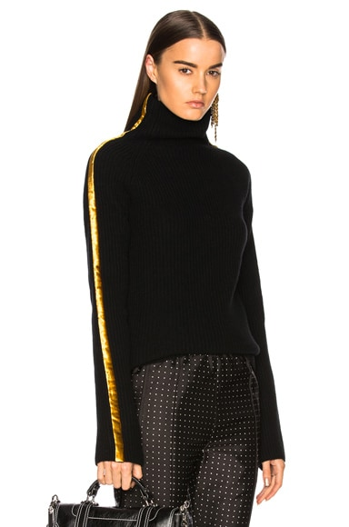 Side Band Turtleneck Sweater