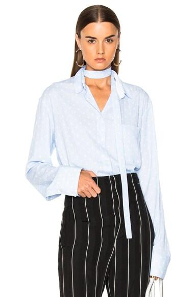Polka Dot Inside Tie Shirt