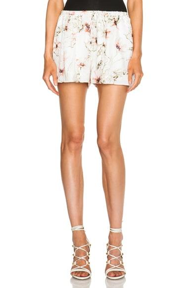 Haute Hippie Summer Shorts in Swan Multi