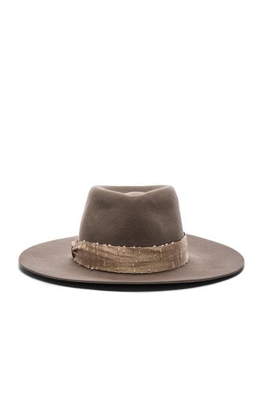 Helen Kaminski Katja Hat in Mushroom & Nude Blur