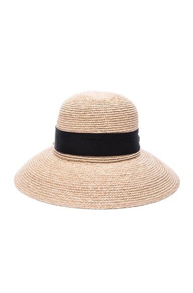 Helen Kaminski Newport Hat in Natural & Midnight
