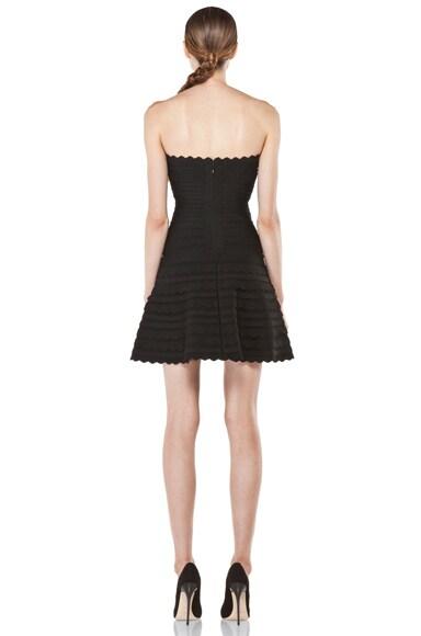 Scalloped Hem Strapless Dress