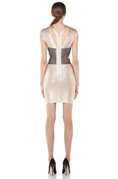 Foiled Cap Sleeve Dress