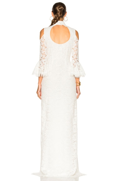Ashton Guipure Lace Hi Low Gown