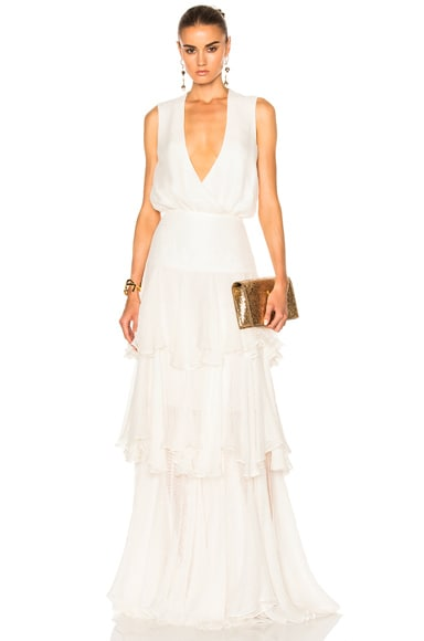 Houghton Evie Gown in White