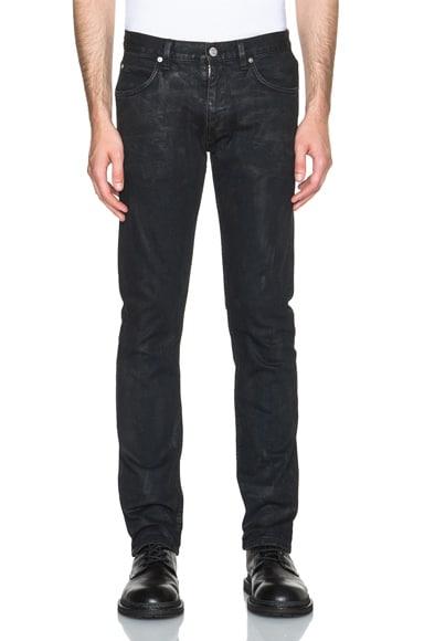 Helmut Lang Straight Leg Jeans in Indigo Exhaust Wash