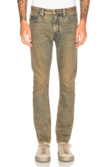 Helmut Lang Mr 87 Jeans in Brick Multi