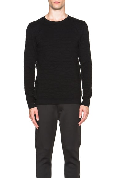Helmut Lang Fractured Knit Sweater in Black