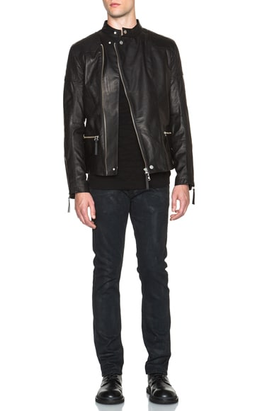 Glossy Leather Rider Jacket