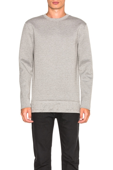 Helmut Lang Neoprene 3D Sweatshirt in Heather Grey