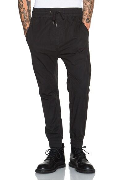 Helmut Lang Lightweight Sateen Track Pants in Black