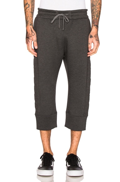 Helmut Lang 3D Logo Crop Jogger in Dark Charcoal