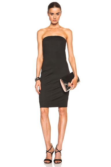 Helmut Lang Cast Jersey Dress in Black
