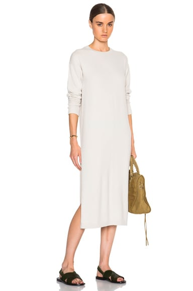 Helmut Lang Cashmere Tunic in Earl Grey