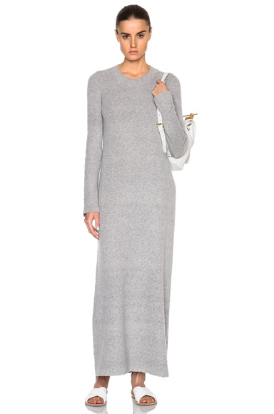 Helmut Lang Cashmere Rib Dress in Heather Grey