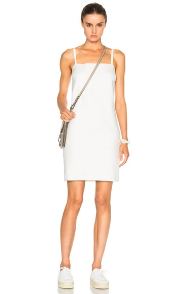 Helmut Lang Scuba Dress in Ivory