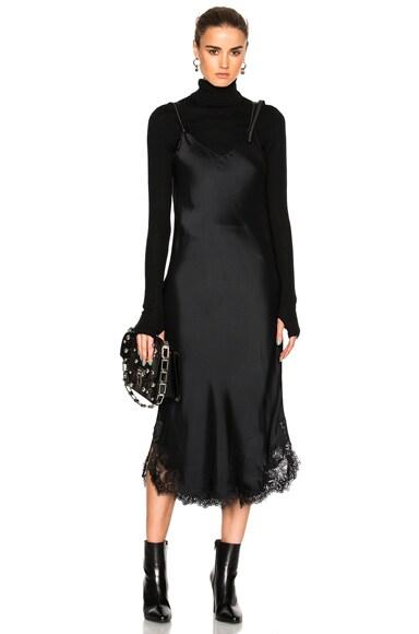 Helmut Lang Lace Slip Dress in Black