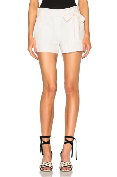 Helmut Lang Patch Pocket Shorts in Ivory