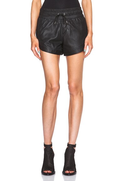 Helmut Lang Kiln Leather Shorts in Black