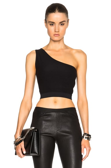 Helmut Lang Asymmetrical Bra in Black