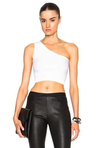 Helmut Lang Asymmetrical Bra in White