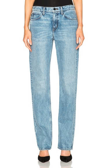 Helmut Lang Boyfriend Jeans in Light Blue