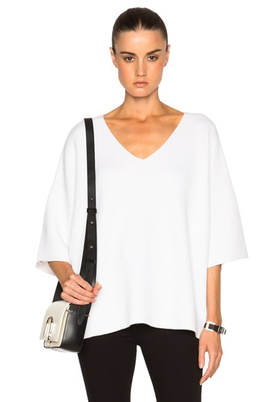 Helmut Lang Dolman Sweater in White