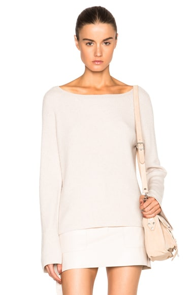 Helmut Lang Cashmere Wool Sweater in Shell