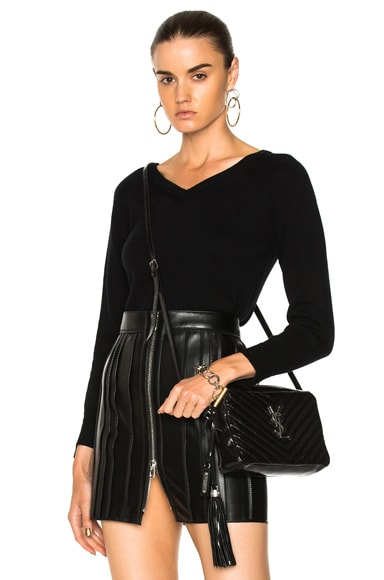Cashmere Double V Pullover Sweater