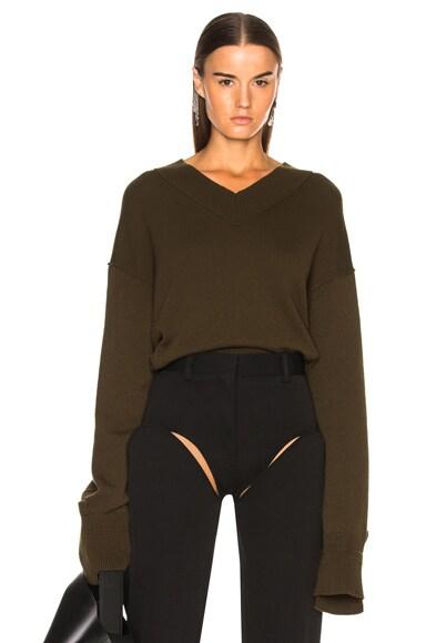 Cashmere High V Neck Sweater