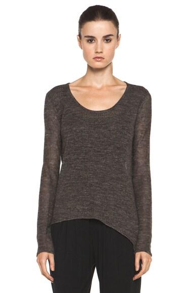HELMUT Linen Side Slit Pullover