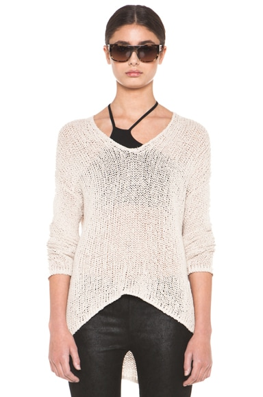 HELMUT Looped Cotton Asymmetrical Pullover