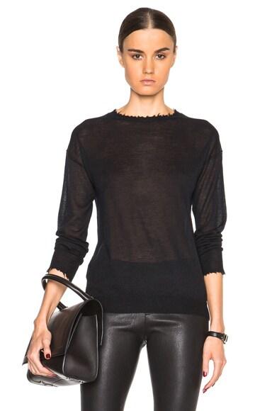 Helmut Lang Cashmere Crewneck Sweater in Black