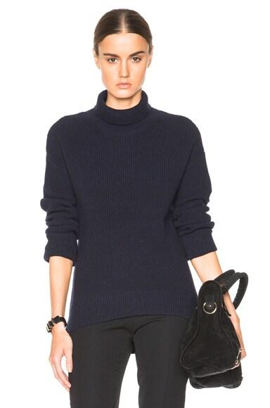 Helmut Lang Turtleneck Sweater in Nero Navy