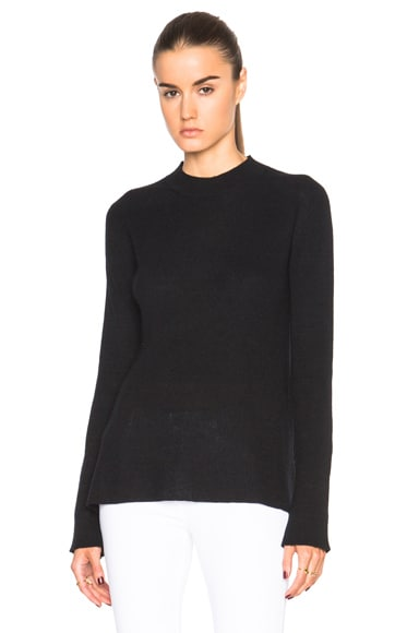 Helmut Lang Slitback Sweater in Black